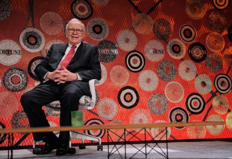 Warren Buffett attends the Fortune Most Powerful Women summit