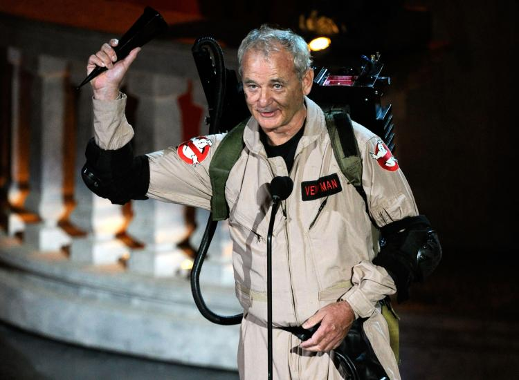 Actor Bill Murray accepts the Best Horror Movie award onstage during Spike TV's 'Scream 2010' at The Greek Theatre on October 16, 2010 in Los Angeles, California.  (Michael Caulfield/Getty Images)