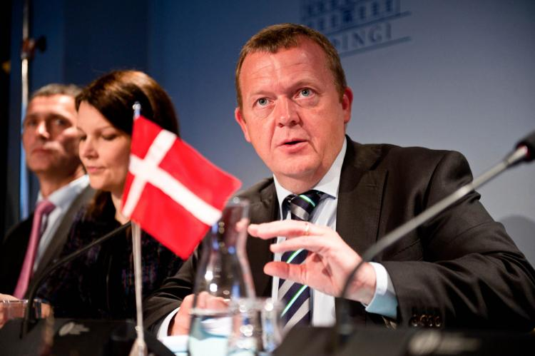 Danish Prime Minister Lars Lokke Rasmussen's government is taking measures to battle problems in Denmark's slums.  (Halldor Kolbeins/AFP/Getty Images)