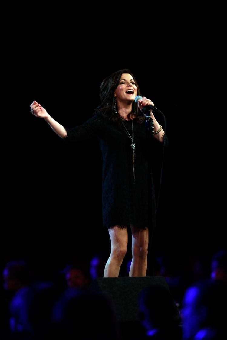 Martina McBride performs during the NASCAR Sprint Cup Series awards banquet at the Wynn Las Vegas Hotel on Dec. 3, 2010 in Las Vegas. McBride most recently sang the national anthem at the AFC Championship Game on Jan. 23. (Chris Trotman/Getty Images)