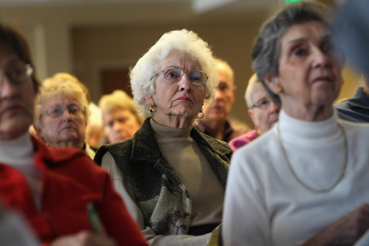 Seniors attend a 'Medicare Monday' seminar at the Holly Creek retirement community on December 6, 2010 in Centennial, Colorado. (John Moore/Getty Images)