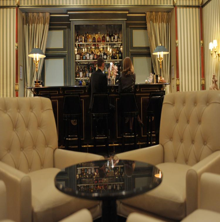 The bar at the luxury Shangri-La Hotel in Paris, which was the home of Prince Roland Bonaparte and which now belongs to a Chinese group based in Hong-Kong (Eric Piermont/AFP/Getty Images)