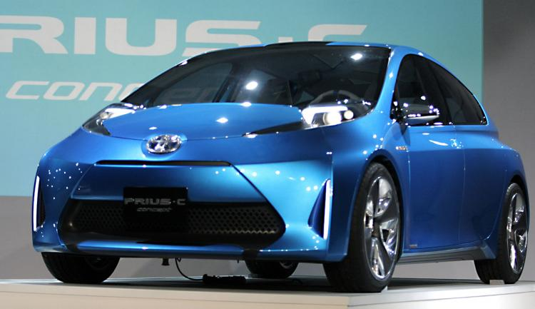 The new Toyota Prius C Concept vehicle makes its debut at the 2011 North American International Auto Show January 10, 2011 in Detroit, Michigan. (Bill Pugliano/Getty Images)