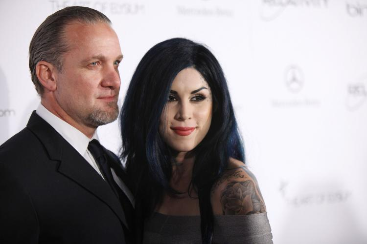 Kat Von D (R) and Jesse James attend the Art Of Elysium 'Heaven' Gala 2011 at The California Science Center Exposition Park on Jan. 15, 2011 in Los Angeles, Calif. (Neilson Barnard/Getty Images)
