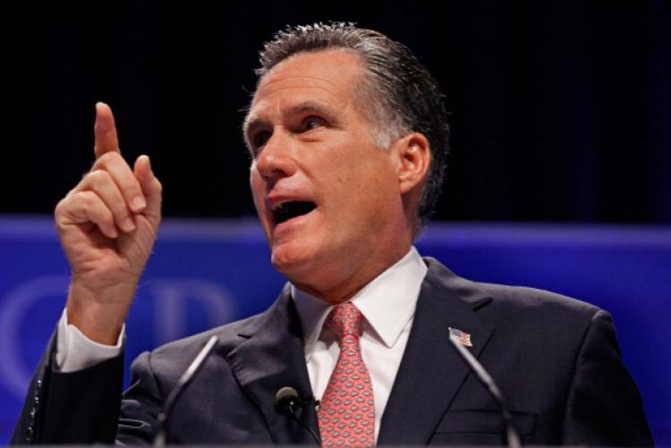 Former Massachusetts Governor Mitt Romney addresses the Conservative Political Action Conference at the Marriott Wardman Park February 11, 2011 in Washington, DC. (Chip Somodevilla/Getty Images)