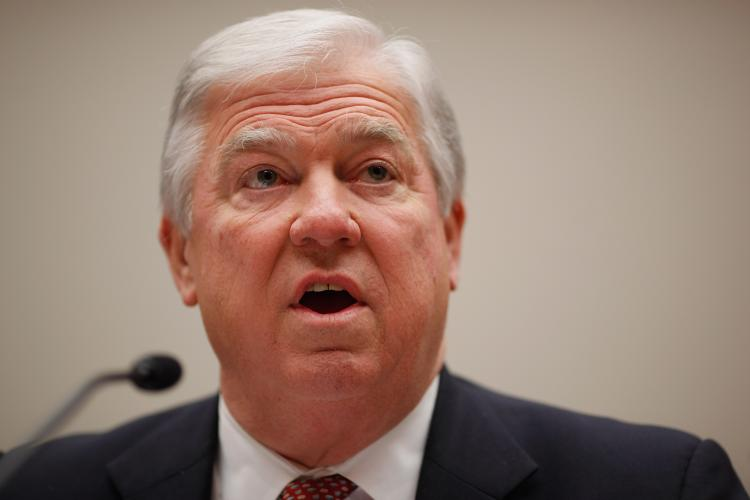Mississippi Gov. Haley Barbour testifies before the House Energy Committee about the impact of the health care reform act on states during a hearing on Capitol Hill on March 1. Barbour unexpectedly announced on April 25 that he will not compete in the presidential race in 2012. (Chip Somodevilla/Getty Images)
