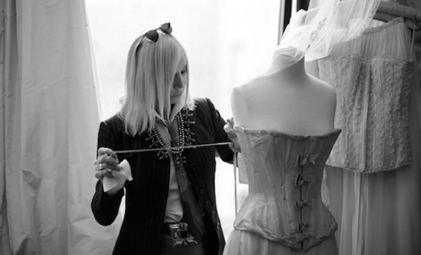 Fashion designer Maggie Norris at work. (Andrew Le Pera)