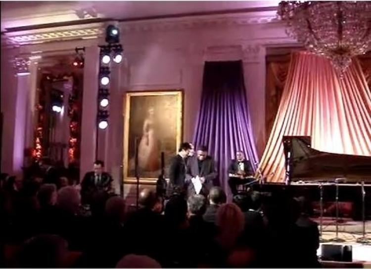 Lang Lang, a Chinese pianist, plays the piano at the White House on Friday, Jan. 21. (Screenshot taken from Youtube)