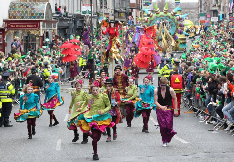 St Patrick's Day Parade in Dublin, Ireland, on March 17, 2011. (PETER MUHLY/AFP/Getty Images)