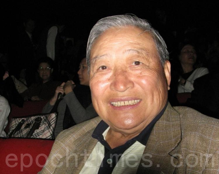 Retired Lieutenant General Mr. Liu Jizheng at Shen Yun Performing Arts. (Huang Caiwen/The Epoch Times)