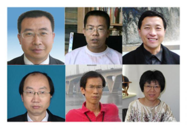 Influential human right lawyers who have become the Chinese authorities' primary targets of recent crackdowns. Upper, left to right: Jiang Tianyong, Teng Biao, Tang Jitian; lower, left to right: Jin Guanghong, Liu Shihui, Li Tiantian. (The Epoch Times archive)
