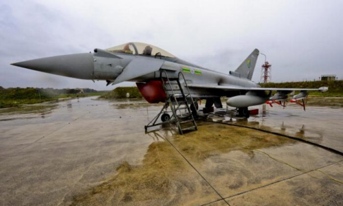 An RAF Typhoon jet prepares to take part in enforcing the no-fly zone over Libya. A new report by the Commons Committee of Public Accounts has highlighted problems and massive costs associated with the Typhoon programme. (SAC Neil Chapman/MoD via Getty Images)