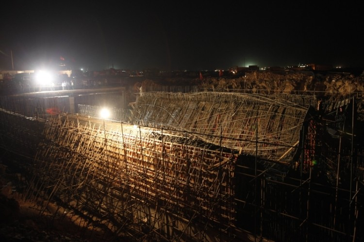 Another construction collapse at Xiaoshao International Airport of Kunming injures 11 people on June 28, at 7:10 p.m. (Epoch Times Archive)