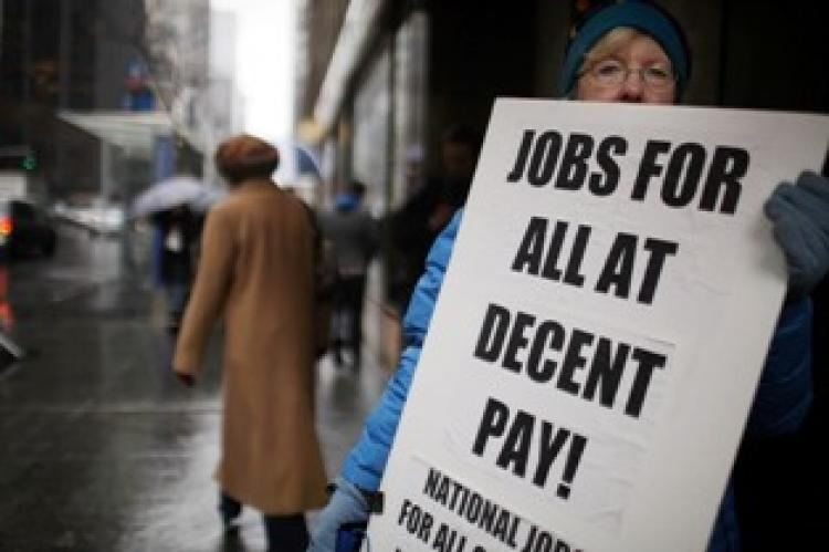 The U.S. Labor Department announced that the unemployment rate fell to 8.8 percent last month on April 1.  (Spencer Platt/Getty Images)
