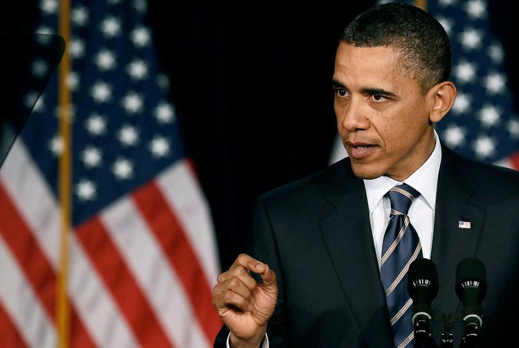 WASHINGTON, DC - APRIL 13: President Barack Obama speaks about fiscal policy at George Washington University in Washington, DC. He laid out his plan for deficit and debt reduction. (Mark Wilson/Getty Images)