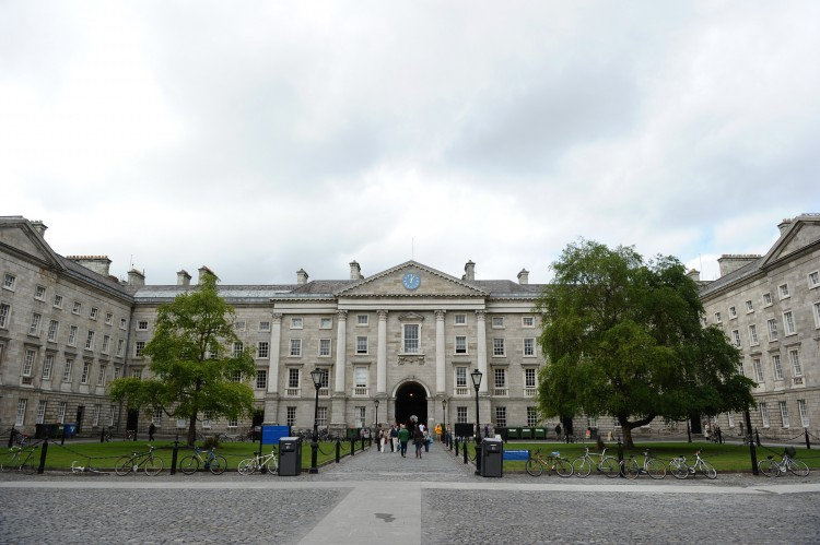 Front Square of Trinity College, where the Dubline route will start.