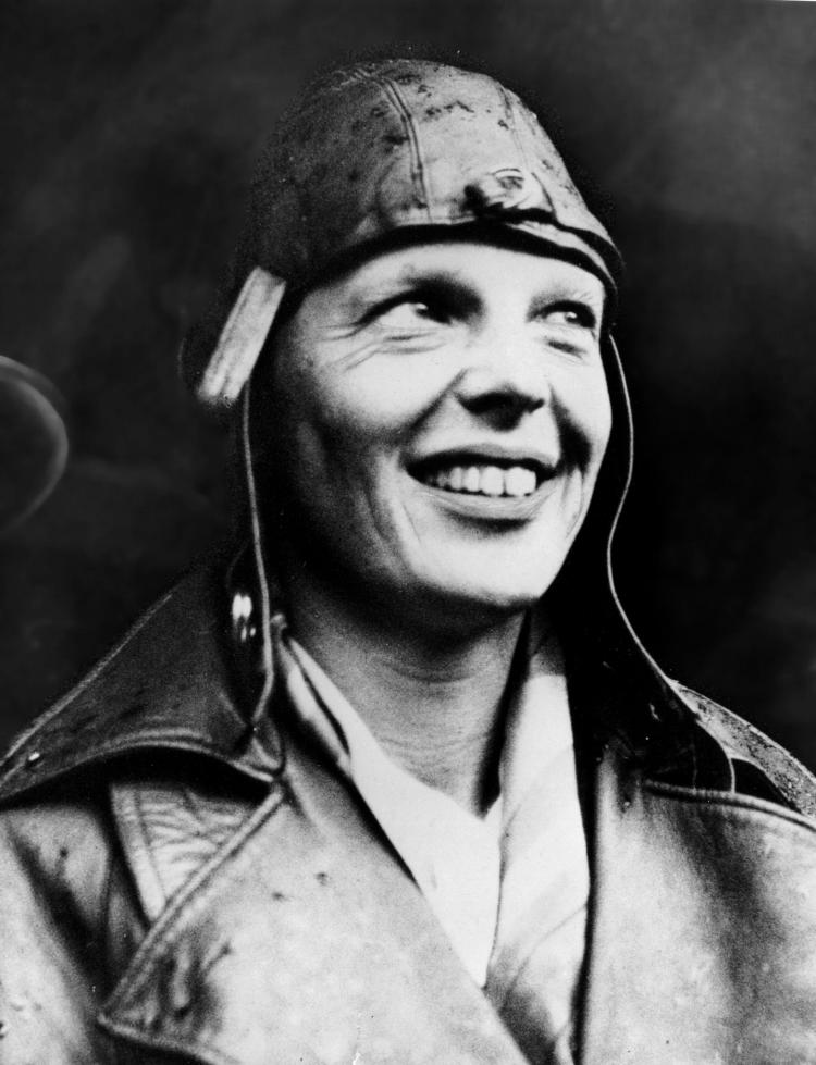 American aviator Amelia Earhart smiles May 22, 1932 upon arriving in London, England having become the first woman to fly across the Atlantic alone.  (Getty Images)