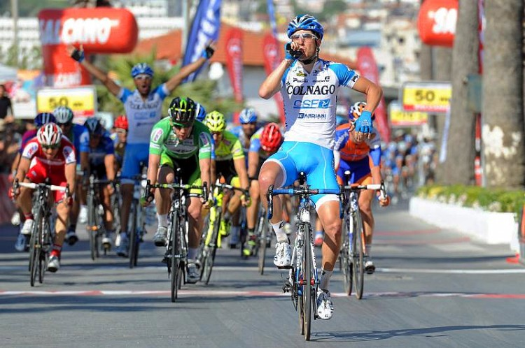 Colnago's Sascha Modolo wins the spint in Stage Sox of the Tour of Turkey. (TourofTurkey.org)