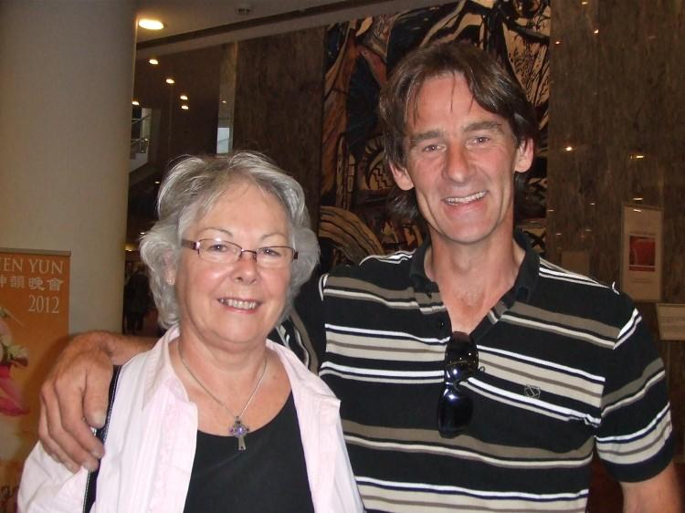 Caroline Sutherland and her son at Shen Yun