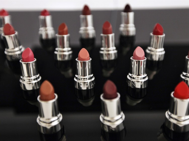 Avon lipstick products are displayed