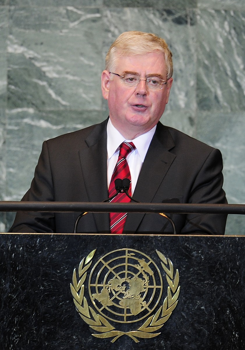 Tánaiste Eamon Gilmore announced this week to sign the Optional Protocol to the Unites Nations International Covenant on Economic, Social and Cultural Rights. Here pictured at a speech at the UN General Assembly in New York, September 26, 2011. (EMMANUEL DUNAND/AFP/Getty Images))
