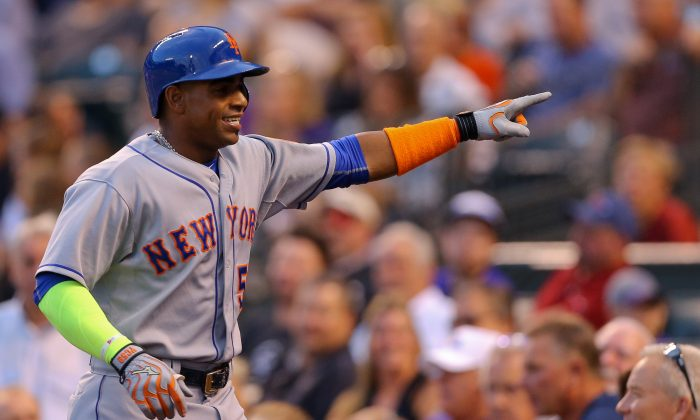 Yoenis Cespedes has 16 home runs in just 39 games with the Mets. (Justin Edmonds/Getty Images)