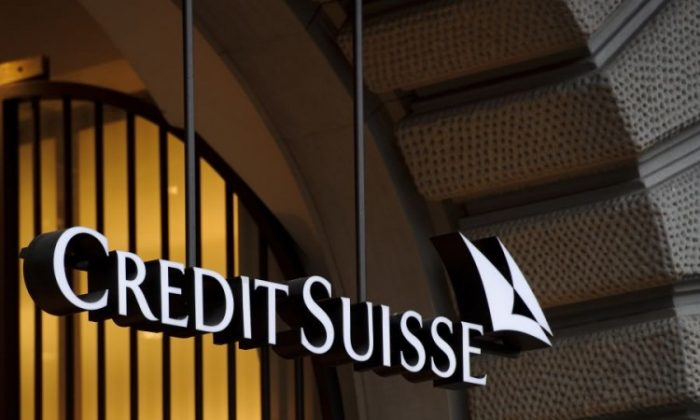 The logo of the Swiss banking giant Credit Suisse in Zurich, Switzerland. (Fabrice Coffrini/AFP/Getty Images)