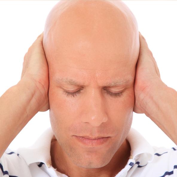 man keeps his ears shut