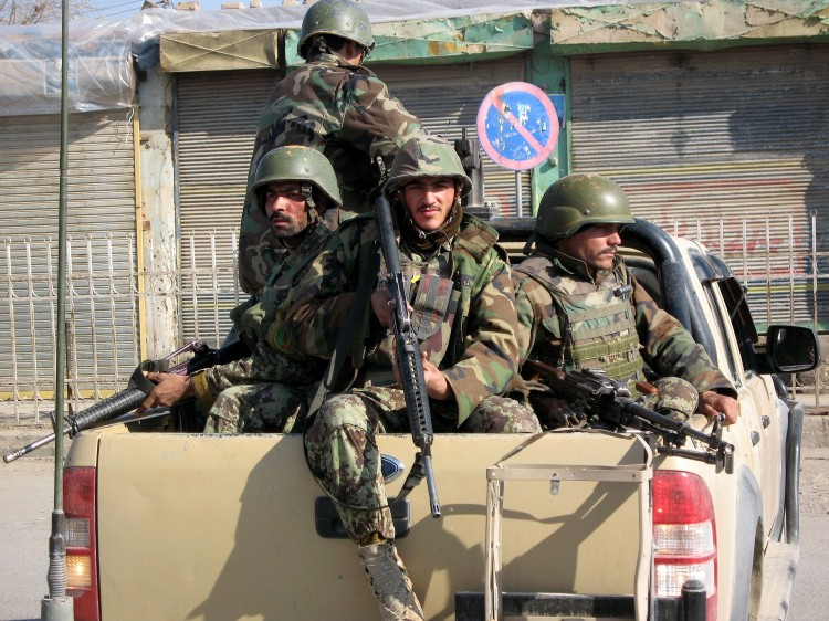 Afghan National Army soldiers