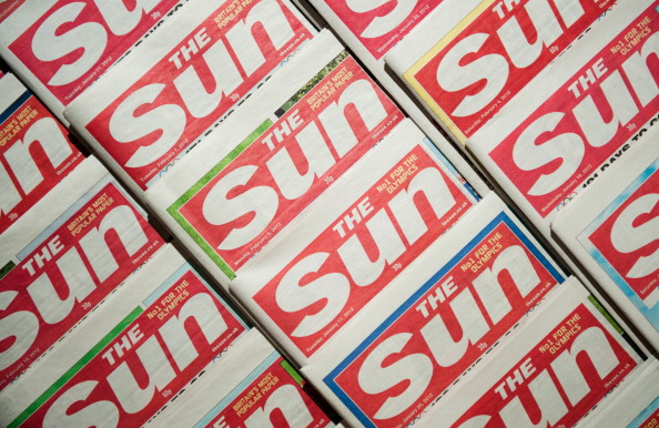The Sun newspaper front pages on February 13, 2012