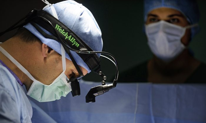 A surgery is done in a file photo. (Jean-Sebastien Evrard/AFP/Getty Images)