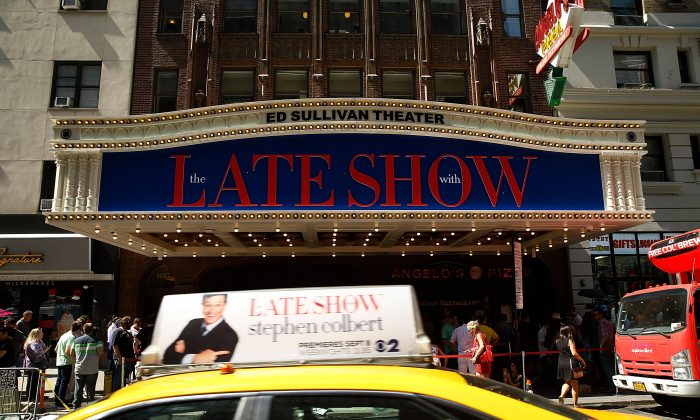 """Atmosphere at the first taping of """"The Late Show With Stephen Colbert"""" on September 8, 2015 in New York City.  (John Lamparski/Getty Images)"""