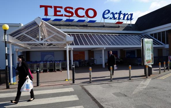 Tesco Extra supermarket in Birkenhead, north-west England
