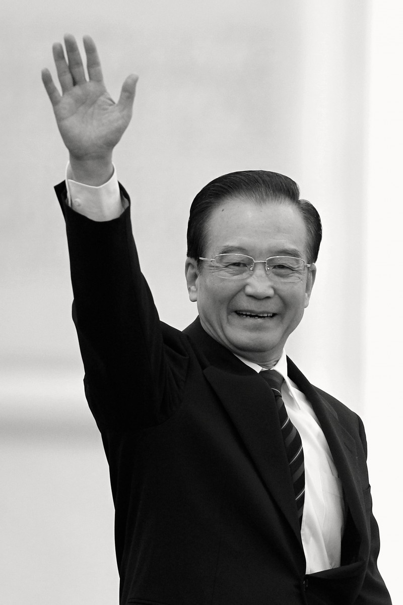 remier Wen Jiabao waves after finishing a March 14 news conference in Beijing. Lintao Zhang/Getty Images