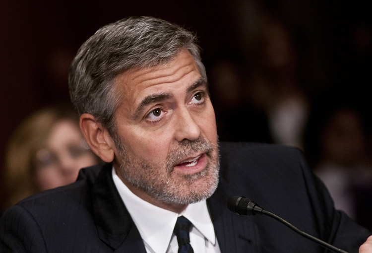 George Clooney Testifies At The Senate