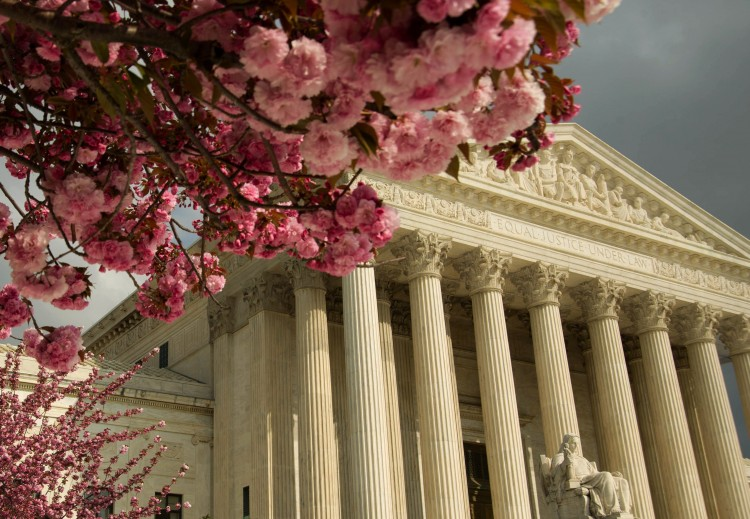 The US Supreme Court is seen in this March 31, photo on Capitol Hill in Washington.