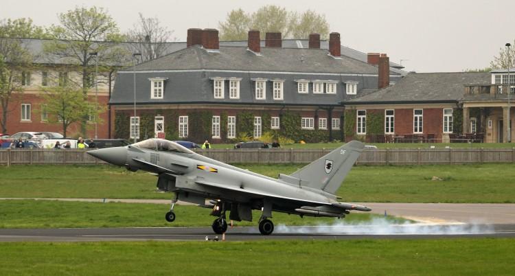A Royal Air Force Typhoon jet