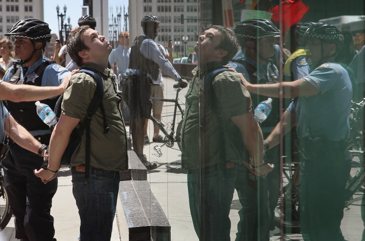 Activists Protest Outside Immigration Court Building In Chicago