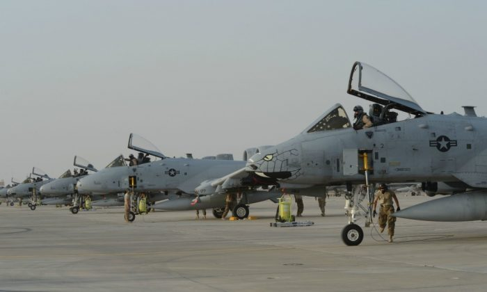 A-10 Warthogs in support of Operation Inherent Resolve. (Tech. Sgt. Jared Marquis/U.S. Air Force)