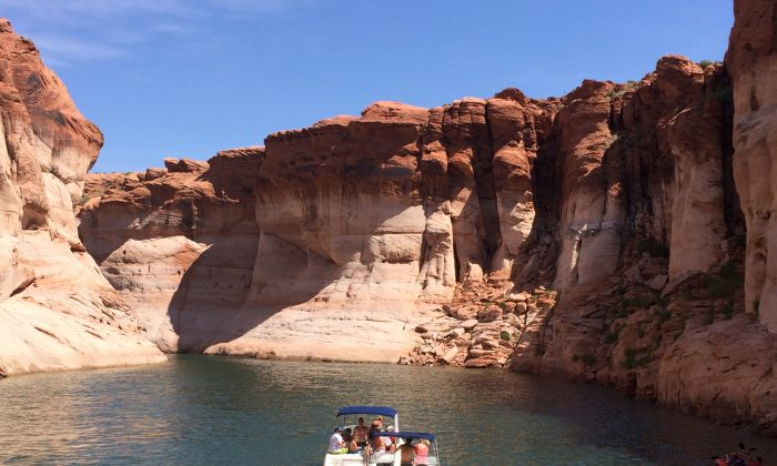 Tour boats explore Antelope Canyon, located on Navajo Nation land near the Glen Canyon National Recreation Area in Arizona.  Photos by Beverly Mann