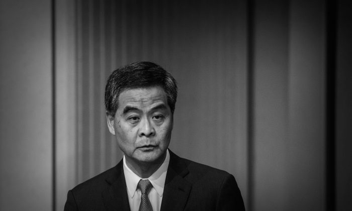 Hong Kong Chief Executive Leung Chun-ying addresses a press conference in Hong Kong on June 18, 2015. (Philippe Lopez/AFP/Getty Images)