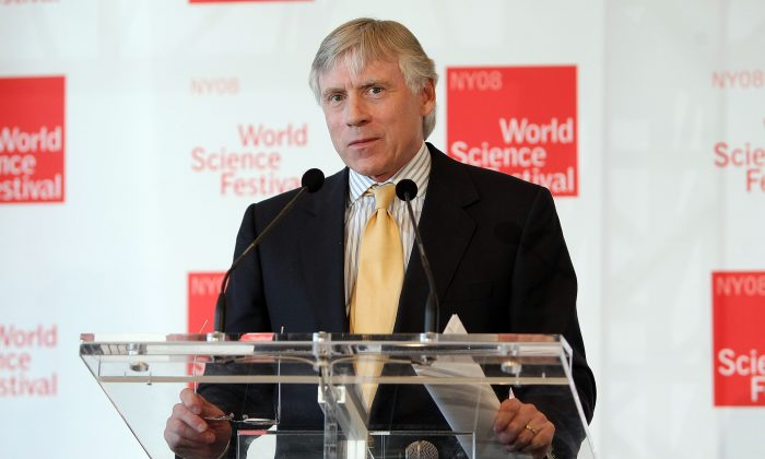 Columbia University President Lee Bollinger speaks during a press conference at NYU on April 2, 2008 in New York City.  (Scott Gries/Getty Images)
