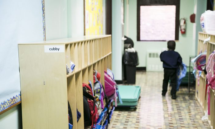 Saint Elizabeth Catholic Academy in Ozone Park, Queens, on Sept. 15, 2015, which is the first school to install Scotti's pro bono bulletproof walls and advanced surveillance system. (Samira Bouaou/Epoch Times)