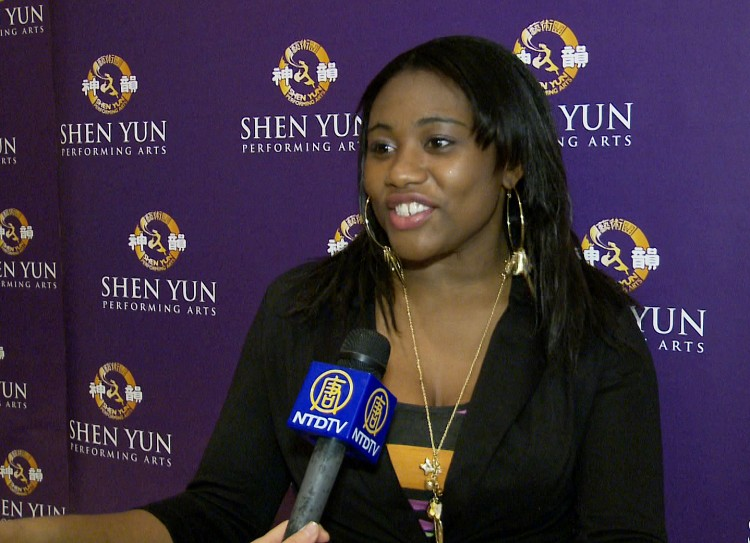 Art student Trillet Robinson after seeing Shen Yun at Lincoln Center on April 20. (Courtesy of NTD Television)