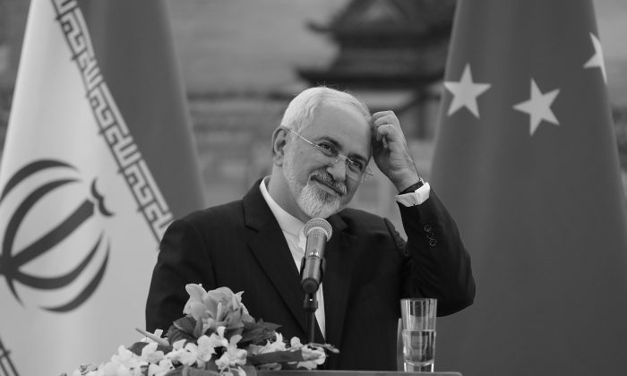 Iranian Foreign Minister Javad Zarif answer questions during a press conference after meeting with Chinas Foreign Minister Wang Yi, in Beijing, China, on Sept. 15, 2015. (Lintao Zhang/Pool/Getty Images)