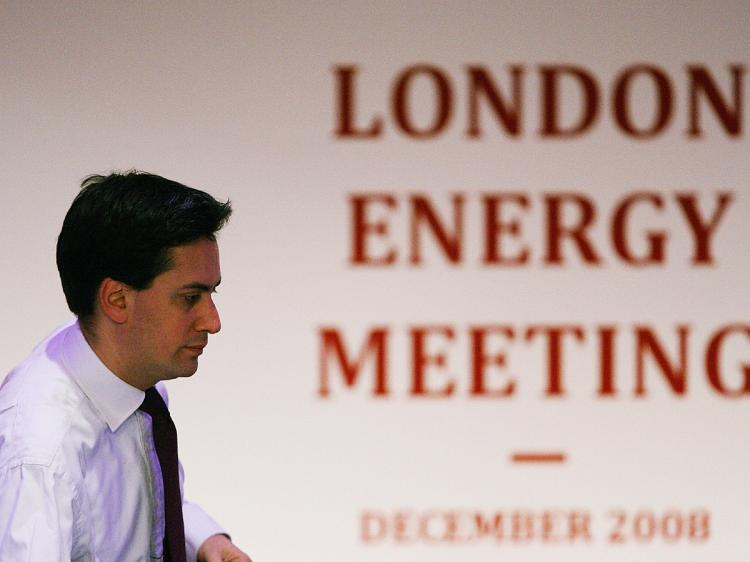 British Energy and Climate Change Secretary Ed Miliband arrives at a press conference at the London Energy Meeting in London. British Prime Minister Gordon Brown said on December 2 that oil price volatility was 'in no-one's interest' at a meeting of major (Carl De Souza/AFP/Getty Images)