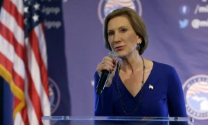 Fiorina Promises a Fight for Republican Nomination