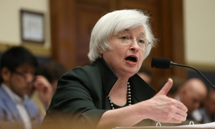 Federal Reserve Board Chairwoman Janet Yellen testifies before the House Financial Services Committee in Washington, D.C., on July 15, 2015. (Win McNamee/Getty Images)