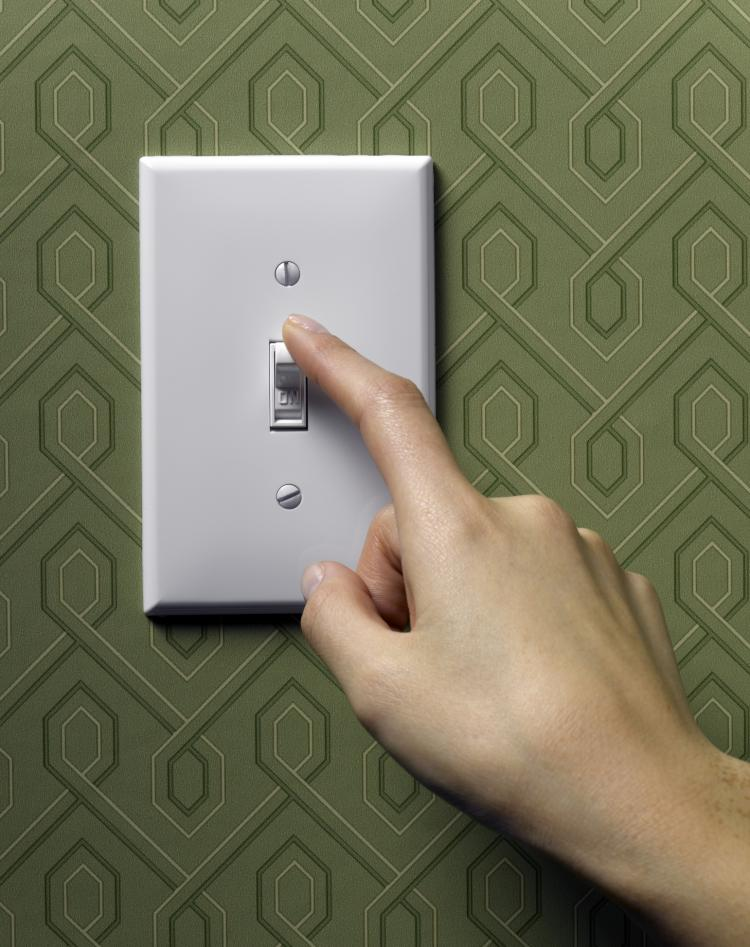 ILLUMINATION CONTROL: An experimental lighting system goes far beyond the old-fashioned light switch, giving users greater control of lighting and adjusts to light already found in the environment.  (Photos.com)