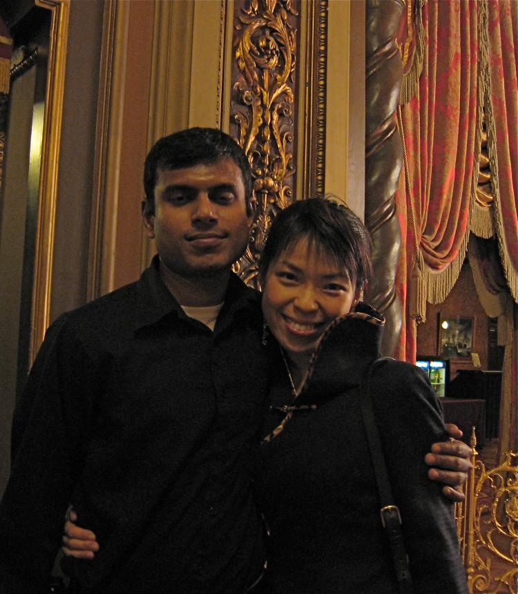 Michiyo, a business training coordinator and Ashok, a technical engineer (Stephanie Lam/Epoch Times Staff)
